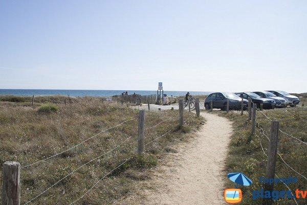 Trail path of Porh Kerhouet beach - Erdeven