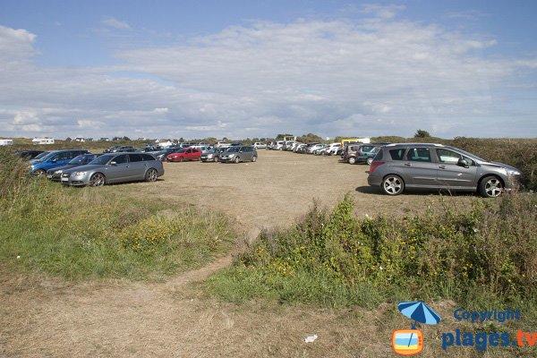 Parking of Porh Kerhouet beach - Erdeven
