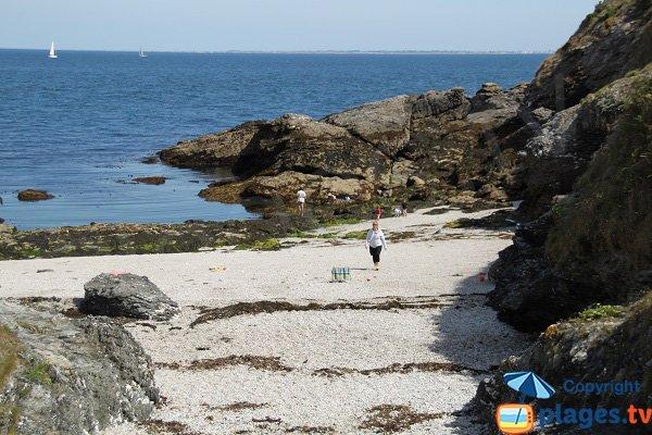 Photo de la plage de Porh Kerzo à Sauzon - Belle-ile