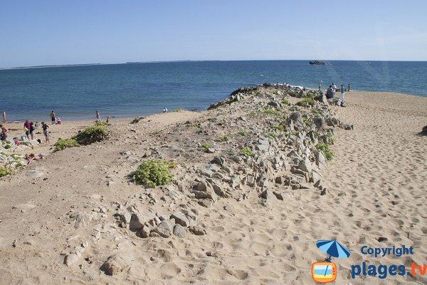 Erdeven beach with view on Belle Ile en Mer - Porh Lineneu