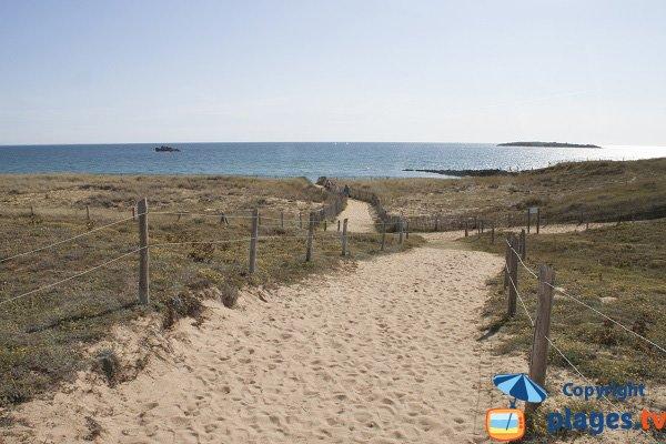 Access to Porh Lineneu beach - Erdeven