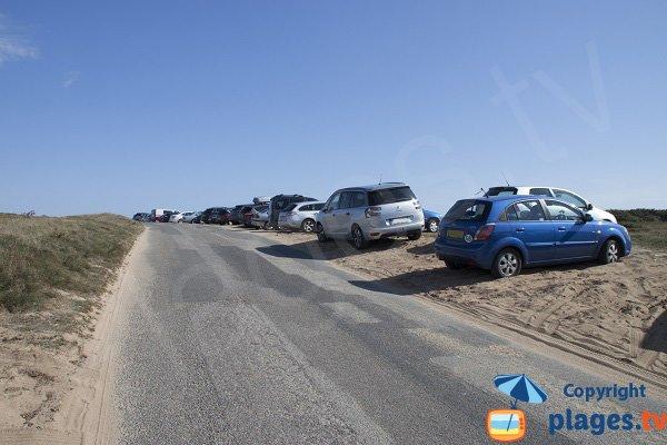 Parking of Porh Lineneu beach - Erdeven