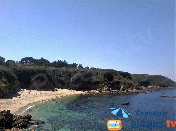 Photo de la crique de Porh Skeudoul sur l'ile de Groix