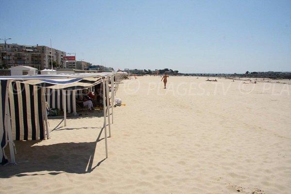 Spiaggia e cabine a Pornichet