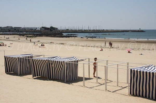Cabine de bains sur la plage de Pornichet