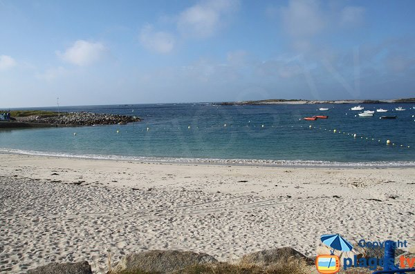 Photo de la plage de Pors Gelen sur l'Ile Grande de Pleumeur Bodou
