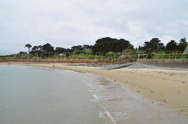 Plage de sable sur la presqu'ile de Plougrescant