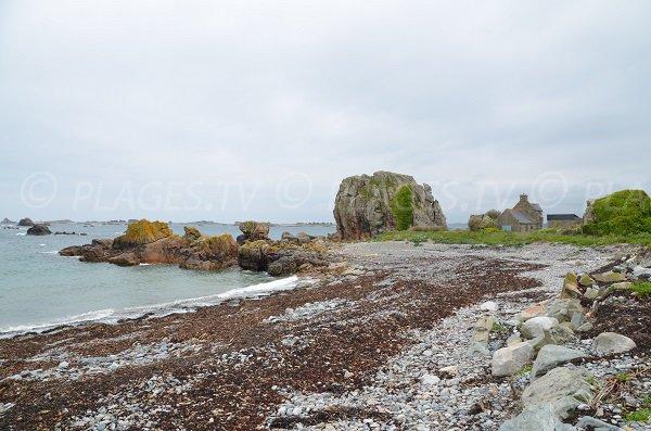 Pors Hir: sa plage et ses maisons