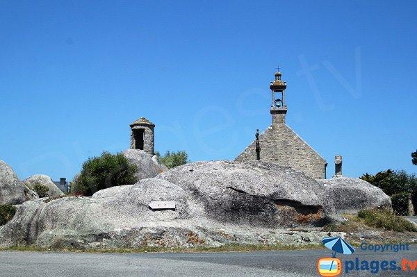 Chapel on Brignogan-Plage Beach