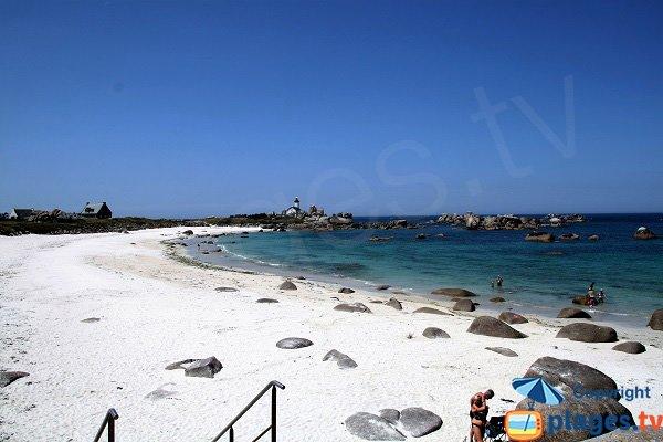 Photo de la plage de Pors Pol à Brignogan-Plage