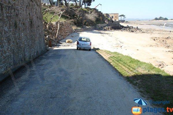 Wedge of the Pors Pol beach of Carantec