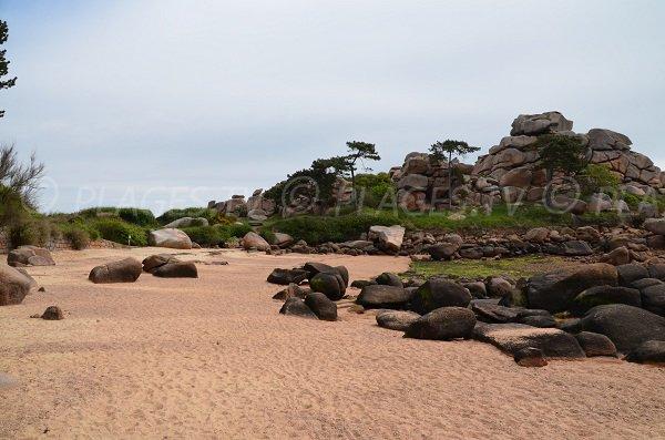 Crique de Pors Rolland en Bretagne