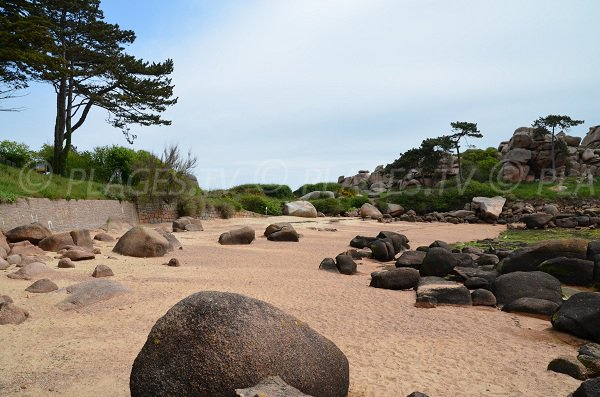 coastal footpath of Pors Rolland in Ploumanac'h