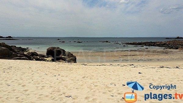 Photo de la plage de Pors Tevigne à Plouarzel - Bretagne