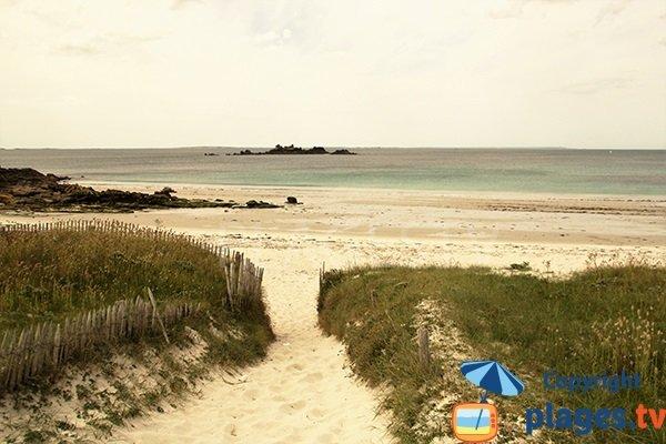 Accès à la plage de Pors Tevigne à Plouarzel