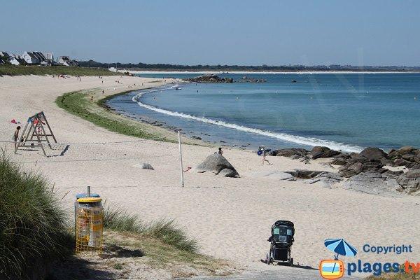Photo de la plage de Porsgwen à Plouescat