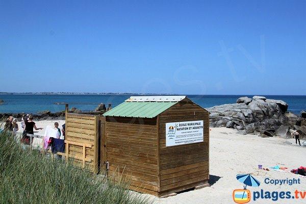 école municipale de natation et d'aquagym sur la plage de Porsmeur à Plouescat