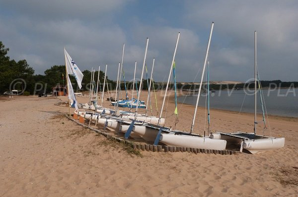 Port d'Albret beach in Soustons in France