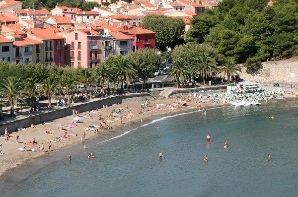 Plage privée sur la plage de Port d'Avall à Collioure