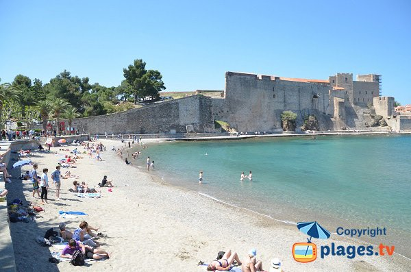 Photo de la plage de Port Avall - Collioure