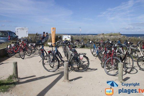 Parking à vélo à port bara - Quiberon