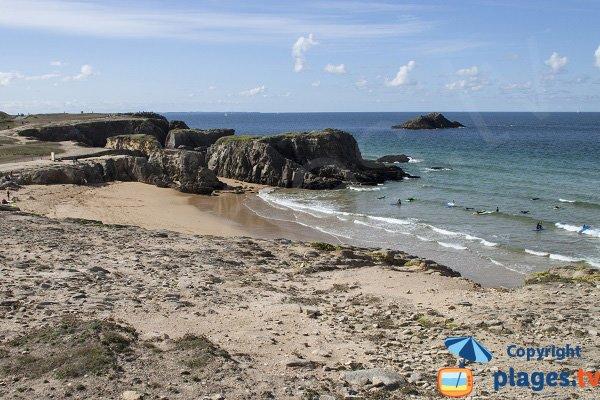 Photo de la plage de Port Bara à St Pierre de Quiberon