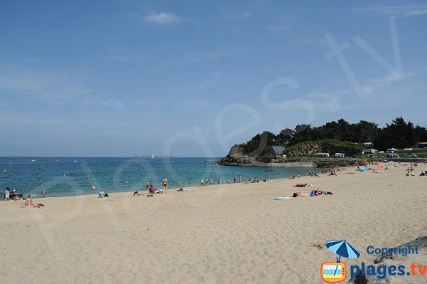 Photo of the Port Blanc beach in Dinard - France