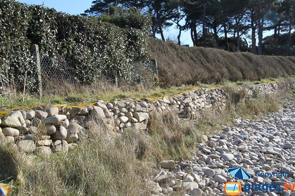Sentier de la plage voisine de Keraden - Plougasnou