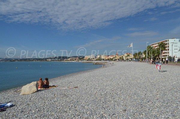 Spiaggia del porto du Cros di Cagnes sur Mer
