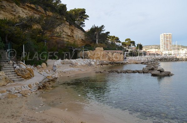 Beach and port of Carry le Rouet - France