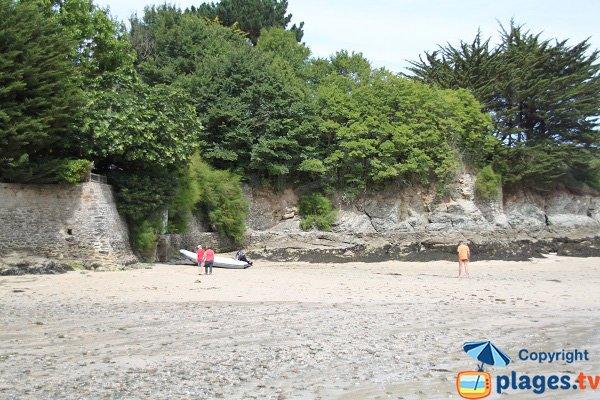 Environnement de la plage de Port Fouquet à Belle Ile