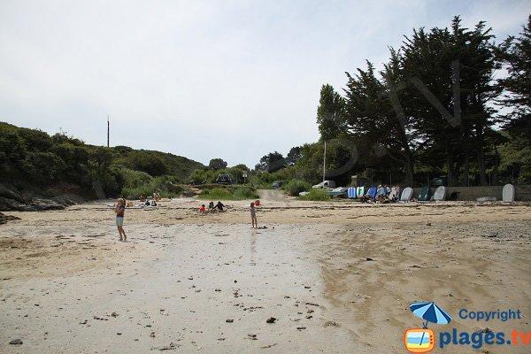 Plage de Port Bouquet à marée basse  - Le Palais