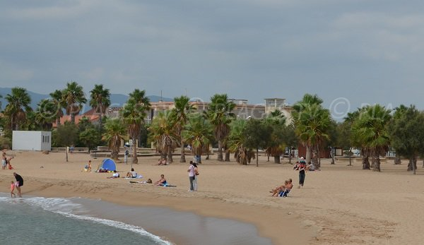 Strand Port Fréjus - der breiteste Teil