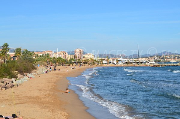 Western part of Port-Frejus beach - France