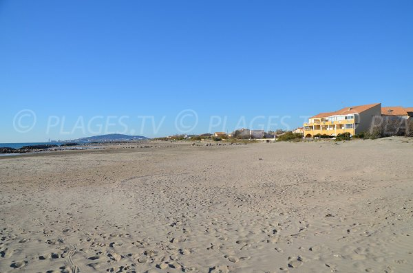 Sand beach in Frontignan - France