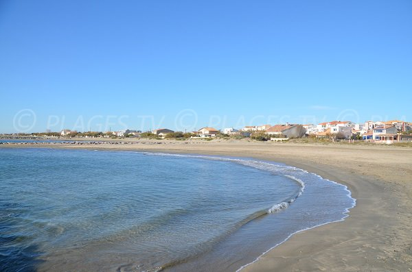 Beach in Frontignan near the port