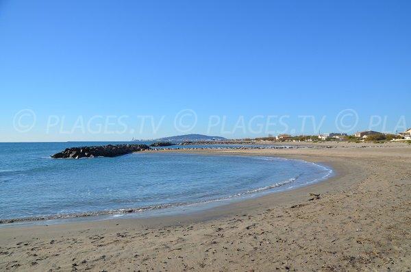 East beach in Frontignan near the port