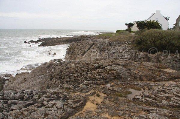 Rocks near Port Georges beach in Piriac sur Mer