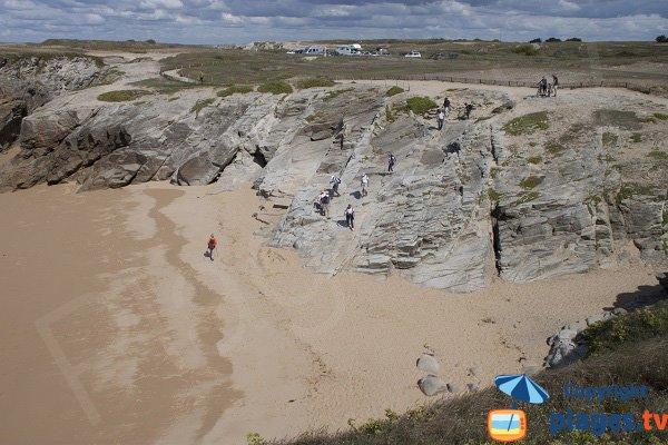 Accès à la plage de Port Goulom à St Pierre Quiberon