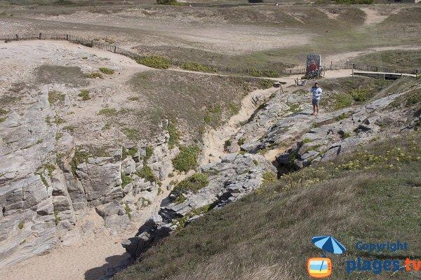 Chemin d'accès à la crique de Port Goulom