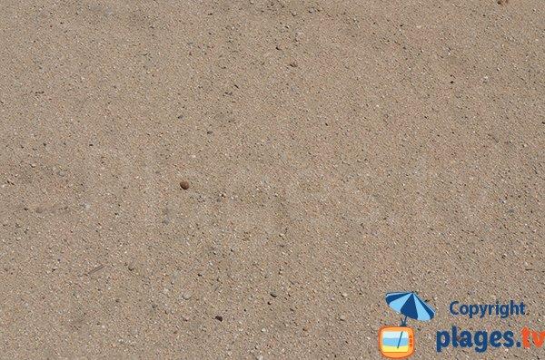 Sable grossier de la plage de Port Grimaud