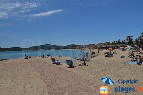 Beach in downtown of Port Grimaud