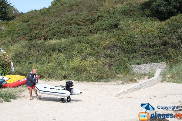 Plage accessible aux bateaux - Belle Ile