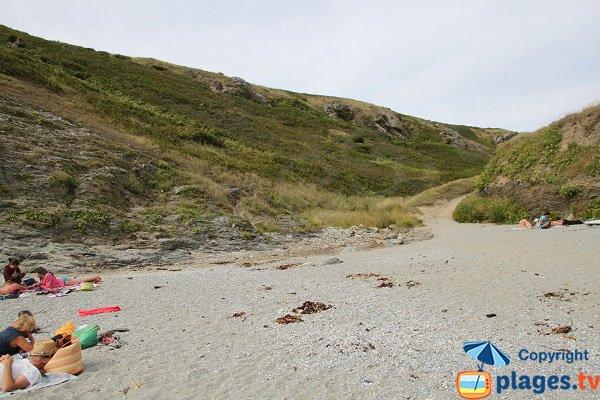Valley of Porz Gween beach in Belle Ile - Bangor