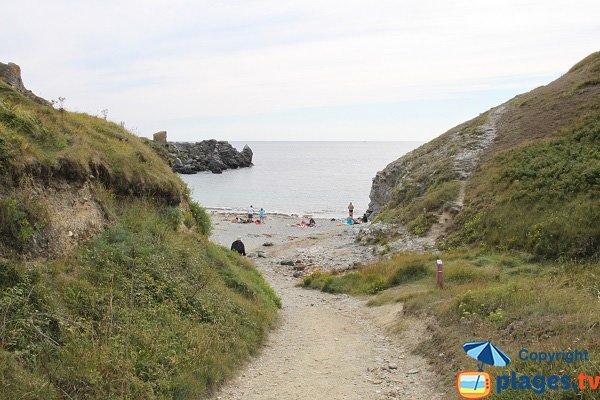 Photo de la plage de Porz Gween à Belle Ile
