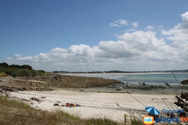 Beach in Sieck island - Brittany