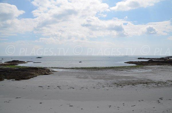 Plage de Port Jean à marée basse - Quiberon
