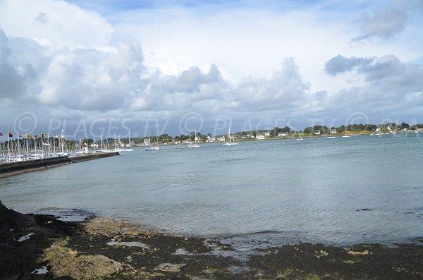 Port of La Trinité sur Mer from the beach
