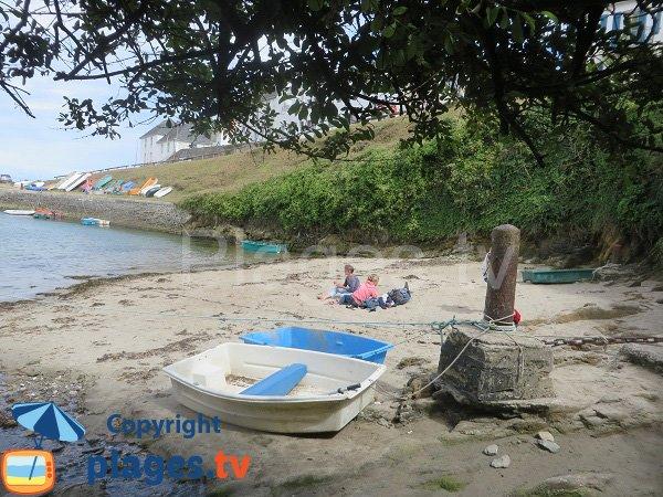Photo de la plage de Port Lay sur l'ile de Groix - Bretagne