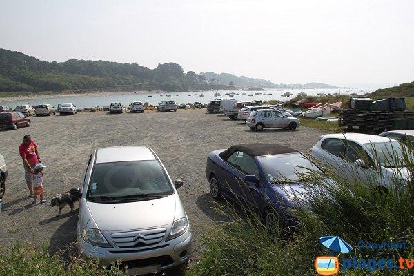 Parking de la plage de Port-Le Goff - Trévou-Tréguignec